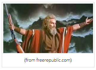 Charlton Heston portraying Moses