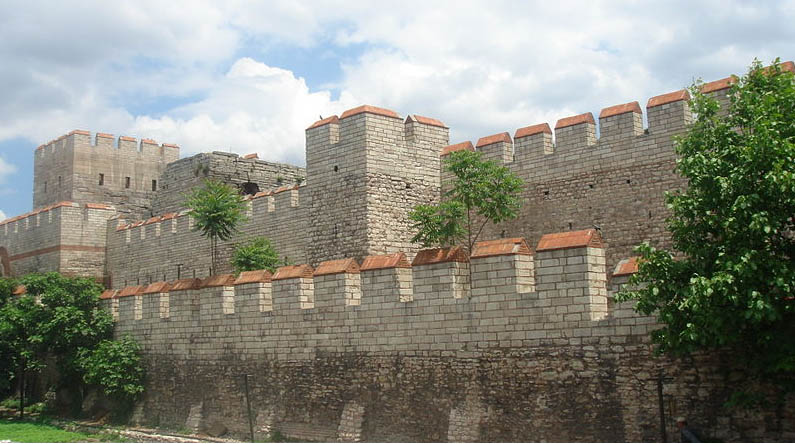 Restored wall of Constantinople